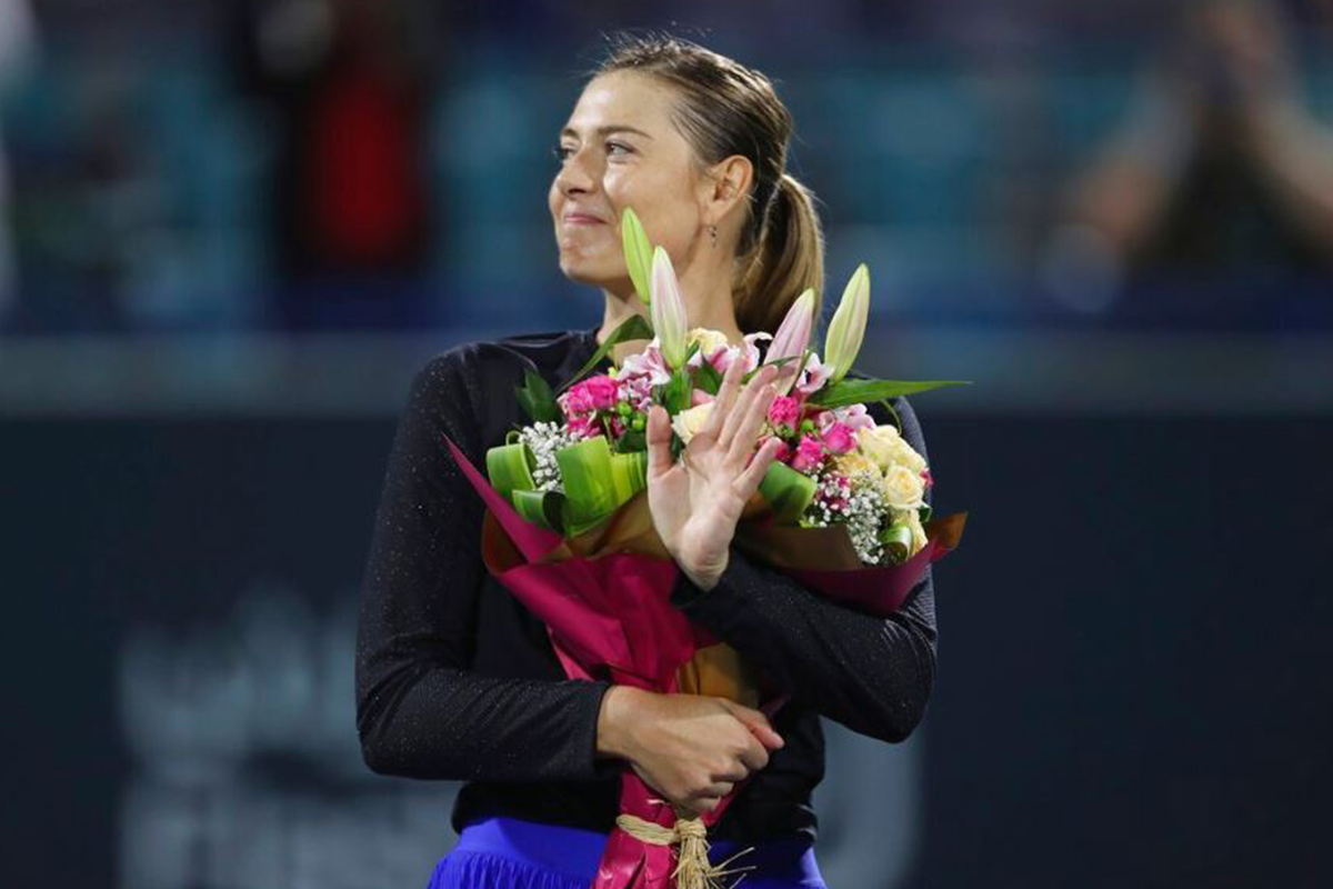 maria sharapova bouquet of flowers