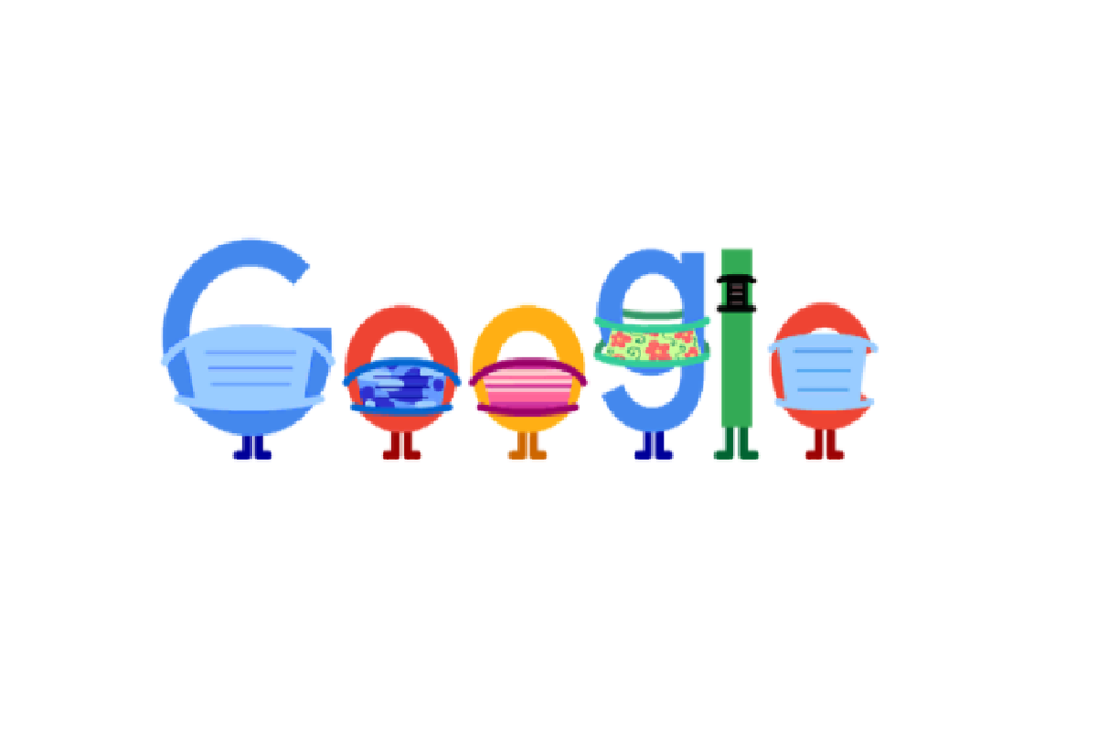 EVEN GOOGLE DOODLES WEAR MASKS. Google's most recent doodle reminds people to stay safe amidst the COVID-19 pandemic.