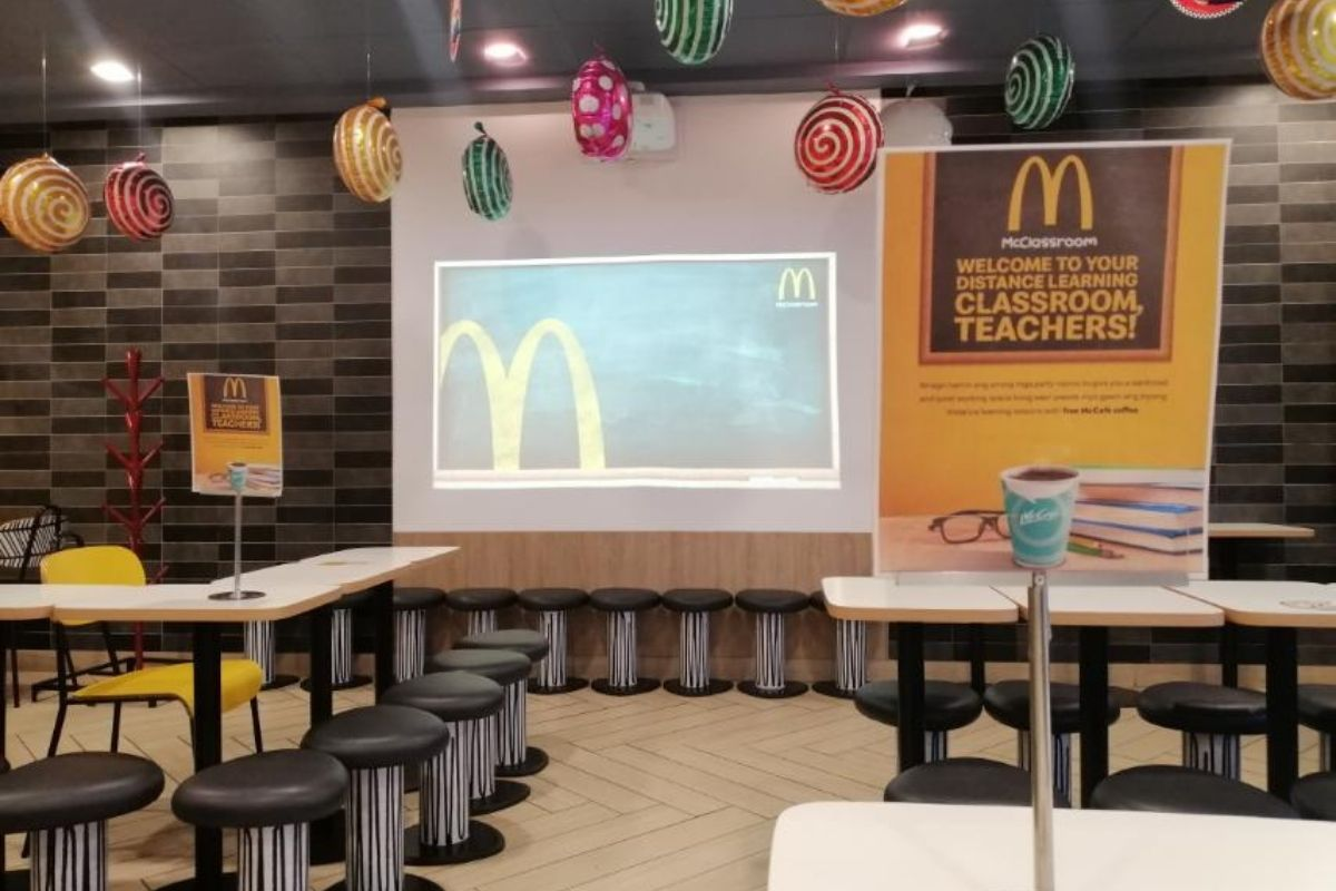 McDonald's party areas transform into teachers' work-friendly McClassroom