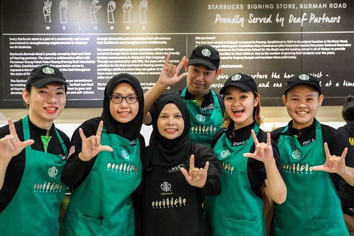 starbucks malaysia run by all deaf team