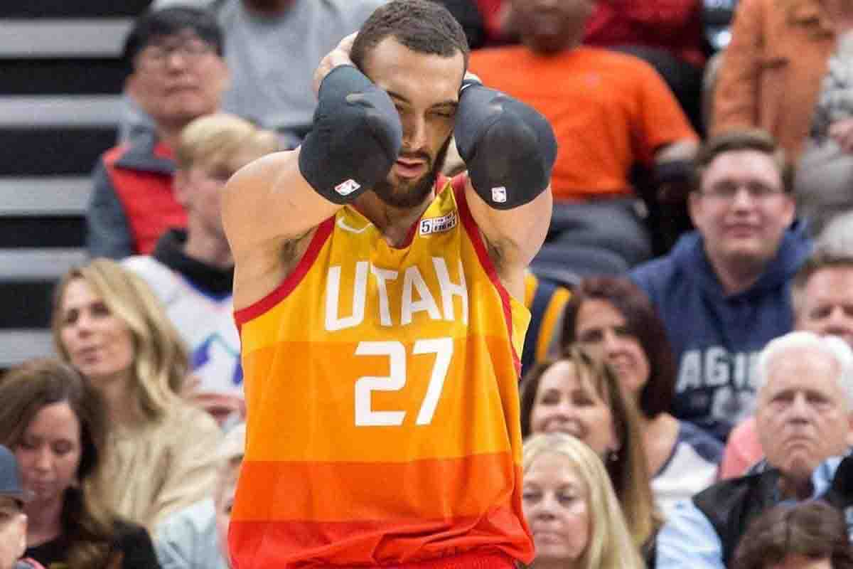 Utah Jazz's Rudy Gobert. | Photo courtesy of CBS Sport